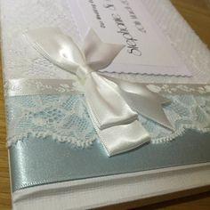 Followed by a gorgeous baby blue ribbon guestbook  #weddinghour Ahoydesigns.co.uk  #wedding #brides #weddinginspiration #weddingday #guestbook #lace #ribbon #diy #vintage #classic #shabbychic # #bespoke #unique #individual #crafty #craft #weddingday #love #personalised #engaged #gettingmarried #newlyengaged