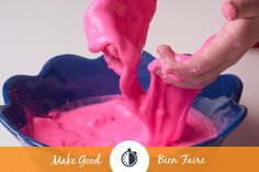Looking for a fun and safe recipe for slimy play GOO? The kids will love this one and it only takes 5 minutes with a few ingredients!