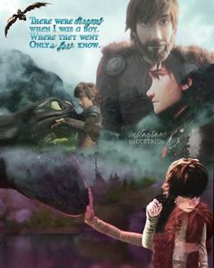 — There were dragons when I was a boy. Our story changed the world forever. Hiccup and Toothless Httyd Dragons, Dreamworks Dragons, Httyd 3, Hiccup And Toothless, Hiccup And Astrid, Dreamworks Movies, Disney And Dreamworks, How To Train Dragon, How To Train Your