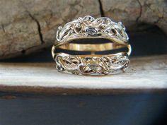 Wedding Ring Jacket Hand done Intricate Leaf & by CowboysGallery, $950.00