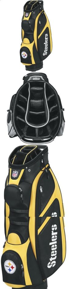 Golf Bags - Other Golf Equipment 181155: Wilson Nfl Pittsburgh Steelers Cart Golf Bag, Black/Gold -> BUY IT NOW ONLY: $149.95 on eBay! #ChoosingTheRightGolfEquipment
