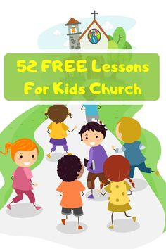 Download 52 FREE Kids Church Lessons to use in your Sunday School or Children's Ministry. Kids Church Games, Kids Church Lessons, Bible Lessons For Kids, Church Activities, Christmas Sunday School Lessons, Free Sunday School Lessons, Children's Church Crafts, Bible Object Lessons, Kids Around The World