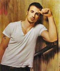 Hot Guys In Plain White Ts- Chris Evans: Of course capt america likes the plain white T