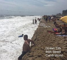 Great (beach) Wall of Ocean City. Rip Currents carved a 3 to 5 foot cliff in the sand Labor Day weekend