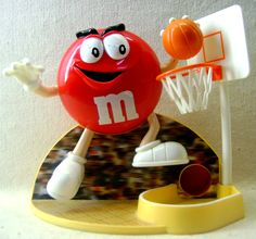 m m candy | Red M Basketball Candy Dispenser by HobartCollectables on Etsy