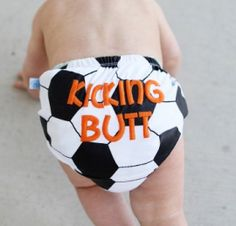 Soccer Baby Bloomers www.SpecialBabyShowerGifts.com