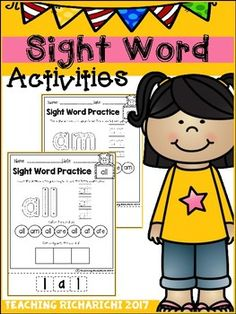 Inside you will find 52 Sight Word Activities pages.all, am, are, at, ate, be, black, brown, but, came, did, do, eat, four, get, good, have, he, into, like, must, new, no, now, on, our, out, please, pretty, ran, ride, saw, say, she, so, soon, that, there, they, this, too, under, want, was, well, went, what, white, who, will, with, yesI would appreciate your feedback.If you like it make sure to checkout my other products too :Sight Word Activities (Pre-Primer)Reading ComprehensionAlphabet Cut…