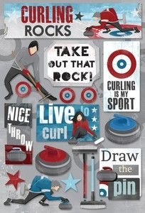 Great to use with pics of Bill taking a curling clinic!