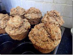 Vegan Pumpkin  and Raisin Oat Bran Muffins