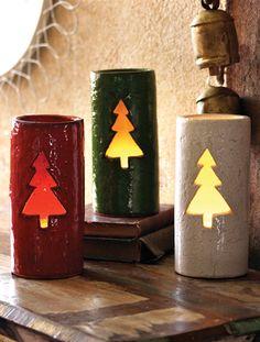 christmas tree luminaries  red   $96.00