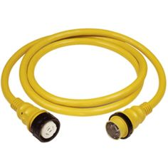 Marinco 50Amp 125/250V Shore Power Cable - 25 - Yellow