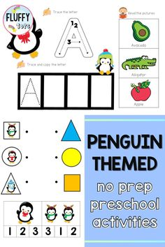 Penguins are a perfect addition to preschool activities in the winter! In this blog, I talk about some of the different preschool activities and resources that are penguin themed and great for practicing preschool motor skills, preschool math, preschool science and preschool writing. I also include suggestions for books about penguins that are great to pair with these activities. Great to use in the preschool classroom or for preschool homeschool activities. Preschool Activity Books, Preschool Writing, Preschool Science, Preschool Printables, Preschool Classroom, Preschool Activities, Number Recognition Activities, Cute Baby Penguin, Motor Skills