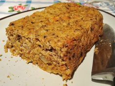 SCD Nut Roast - nuts, beans, vegetables and herbs. Vegan Nut Roast Recipes, Scd Recipes, Low Carb Recipes, Whole Food Recipes, Cooking Recipes, Veggie Recipes, Free Recipes, Vegetarian Recipes, Savoury Recipes