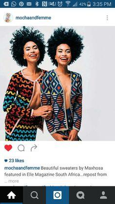 Twins wearing Laduma by Maxhosa African Inspired Clothing, African Print Clothing, African Print Fashion, Fashion Prints, African Prints, African Dresses For Women, African Wear, African Women, African Style