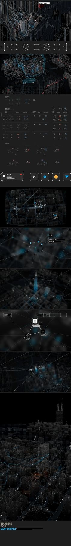 WATCH_DOGS : The Grid by Timothe Lapetite, via Behance:. If you like UX, design, or design thinking, check out theuxblog.com