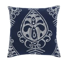 Embroidered Navy Pillow 4pc Set – Outfit My Home