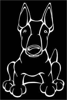 Miniature Bull Terrier Decal Dog