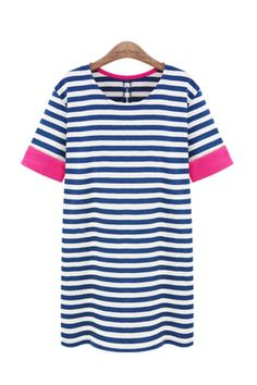 Stripes with a plash of pink. I love! http://rstyle.me/n/jhjv2ps2w