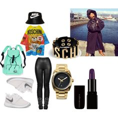 MOSCHINO ME by bruceneriet on Polyvore featuring Moschino, NIKE and Nixon
