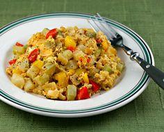 Eggs (Recipe: albornia de chayote) {vegetarian} [ThePerfectPantry.com]