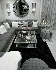 10 Comfortable and Cozy Living Rooms Ideas You Must Check! - Hoomble - 10 Comfortable and Cozy Living Rooms Ideas You Must Check! – Hoomble Most comfortable and cozy living room ideas Home Living Room, Apartment Living Room, New Living Room, Home Decor, Apartment Decor, Cozy Living, Living Room Grey, Silver Living Room, Living Decor
