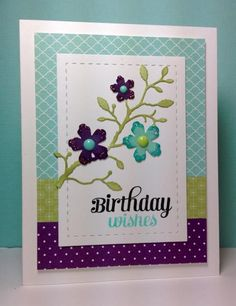Blushing Flower Branch die: Simon Says Stamp, #SSSFAVE,  by beesmom - Cards and Paper Crafts at Splitcoaststampers