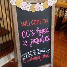 Caroline's House of Pancakes... The Pajama Party Rewind!                                                                                                                                                     More