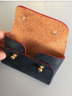 Business card holder/ Origami coin and card wallet/ Business card case/ Minimal design/ Men's card s Leather Wallet Pattern, Leather Pouch, Leather Tooling, Leather Purses, Leather Business Card Holder, Business Card Holders, Leather Scraps, Card Wallet, Card Case