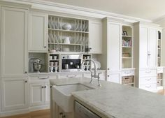 Awesome Modern French Provincial Design Ideas - Page 6 of 27 French Provincial Kitchen, White Kitchen Inspiration, Kitchen Colour Schemes, French Cottage, French Country, Country Kitchen, Cool Kitchens, French Kitchens, White Kitchens