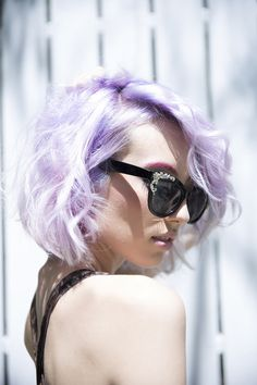 Lavender Is Back Pravana Pravanapastels Lusciouslavender Pastelhair Lavenderhair Short Purple
