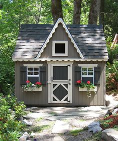 Little Cottage Co. Victorian Backyard Floored Playhouse   zulily