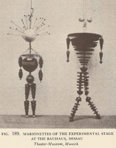 bauhaus puppet models