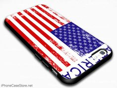 America Flag Super Nation Of American Nationality Case Cover For iPhone 6 / iPhone 6 Plus