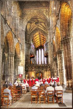 Gesang in der Kirche - Singing in the church by vampire-carmen, via Flickr, Glasgow Cathedral, Scotland, UK