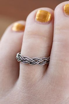 Fashion Jewelry Solid 925 Sterling Silver Double Spiral Adjustable Silver Toe Ring Toering Moderate Cost Jewelry & Watches