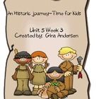 """This packet is a Fifth Grade Treasures Resources for """"An Historic Journey.""""  These resources compliment 5th grade Treasures (Unit 5 Week 3) """"An His..."""