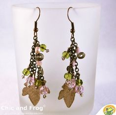"""Touch of pink"" earrings by Chic and frog"