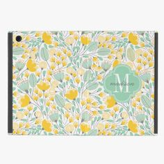 Awesome! This Elegant Modern Floral Yellow Mint Monogrammed iPad Mini Cover is completely customizable and ready to be personalized or purchased as is. It's a perfect gift for you or your friends.