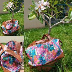 @ameliealareunion sur Instagram: Jamais 2 sans 3 ... Un 3ème sac Java de Sacôtin ! Il me ressemble plus avec ses jolies couleurs ! Un plaisir à coudre ce sac…