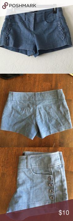 Denim shorts from Papaya Really cute denim shorts from Papaya. 65% cotton 32% polyester and 3% spandex. Size small but it feels like medium. Papaya Shorts