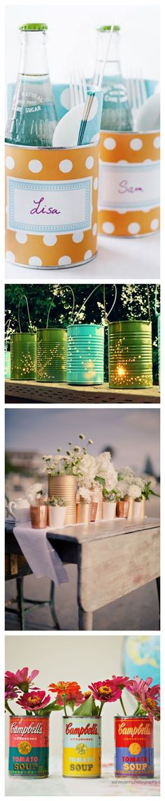 Tin Can Crafts #DIY #upcycle #earthday