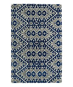 Look what I found on #zulily! Kaleen Blue & Gray Global Wool Rug by Kaleen #zulilyfinds