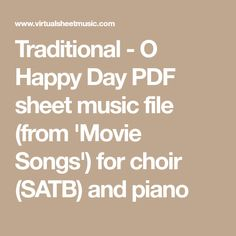 Traditional   O Happy Day PDF Sheet Music File (from U0027Movie Songsu0027)