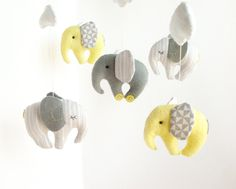 Elephant Baby Mobile Crib Decor New Born by sistersdreams on Etsy, £36.00