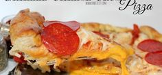 pizza | Mind-Blowing Grilled Cheese Stuffed Pizza