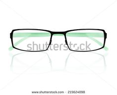 classic glasses isolated on white background