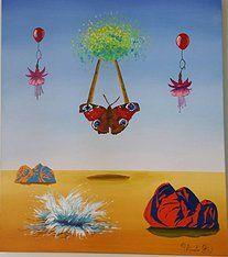 """Obra """" A Leveza que Salvou o Deserto"""" de Patrícia Amato - 70x60cm"""