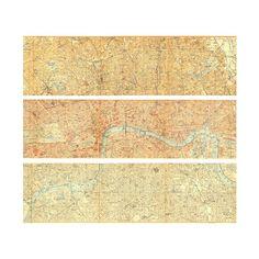 1907 Vintage Map of London Triptych City Plan by CarambasVintage 6000 London City, London Street, Travel Illustration, City Maps, Triptych, Art Lessons, Vintage London, Union Jack, How To Plan