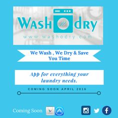 #WashOdry #Startup #Upcoming #Application for laundry & dry cleaning services just by click.