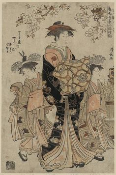 Kiyonaga. From the Library of Congress' collection of Japanese prints. If you click through to the L.O.C., you can download a huge TIFF.